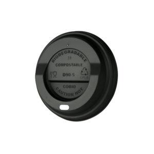 CPLA kansi Ø90mm musta, juomareikä (laatikossa 1000 kpl.)