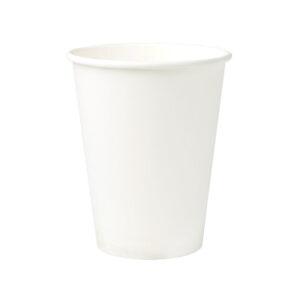 Pahvimuki 300ml/12oz Ø90mm valkoinen, biohajoava (laatikossa 1000 kpl.)