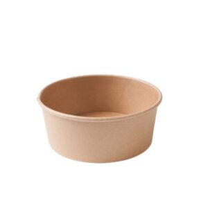 Pahvikulho 650ml Ø150mm ruskea, pyöreä (laatikossa 300 kpl.)