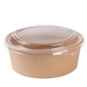 Pahvikulho 1000ml Ø185mm ruskea, pyöreä (laatikossa 300 kpl.)