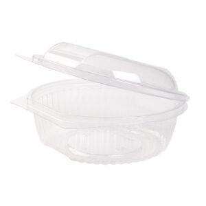 PLA salad bowl 750ml hinged-lid (100 pcs)