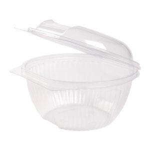 PLA salad bowl 1000ml hinged-lid (100 pcs)