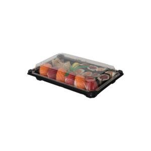 PLA sushi tarjotin kannellla 130x180mm (laatikossa 600 kpl.)