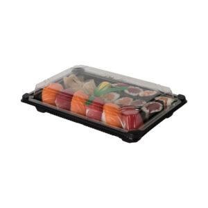 PLA sushi tarjotin kannella 150x230mm (laatikossa 600 kpl.)