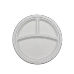 Suhkruroost taldrik Ø230mm, 3 sektsiooni (500 tk)