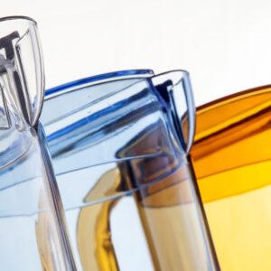 Juomakannu kannella 1,25l kirkas, polykarbonaatti
