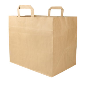 Paper bag 320x200x280mm brown, flat handles