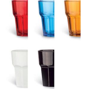 Uudelleenkäytettävä lasi 360ml, punainen