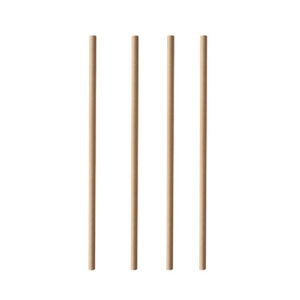 Paper straws 20 cm, Ø 0.6 cm, brown (100 pcs.)
