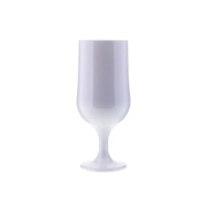 Premium jalallinen lasi 370ml valkoinen